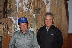 小林守雄さん(左)と石沢今朝松さん