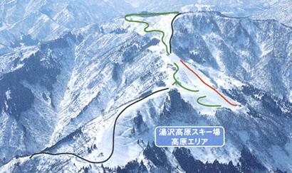 湯沢高原スキー場エリア